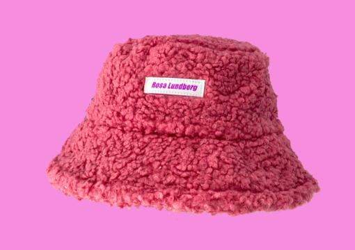 Krølle bøllehat rosa